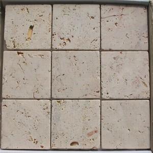 CM523 Travertine Tumbled Natural 100×100