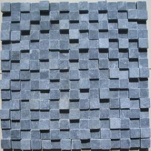 CL009 Blue Limestone Mosaic 3d Tumble