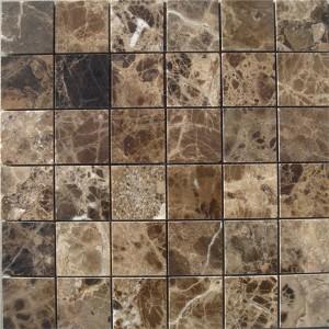 CM501  Mosaic  Description Dark Emperador 49×49 Polished (Pack of 4) 305x305x8