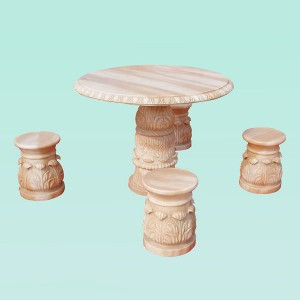 CC292 Marble Table And Stool