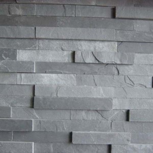 CW735 Black Cleft Stacked Stone