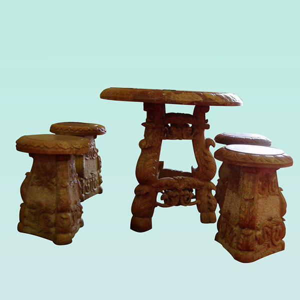 CC303 Marble Table And Stool Featured Image