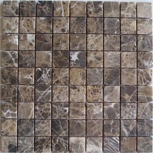 CM502  Mosaic  Dark Emperador 30×30 Tumbled (Pack of 4) 305x305x8
