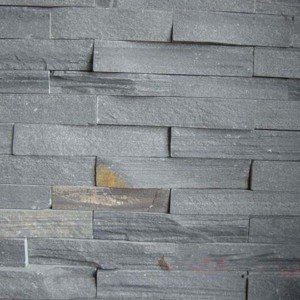 CW736 Black Cleft Rough Stacked Stone