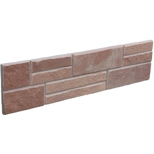 CW814 Red Sandstone Flat Stacked Stone
