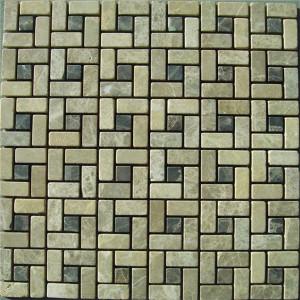 CM505 Mosaic  Dark/Light Emperador 15×15 Tumbled (Pack of 4) 305x305x8