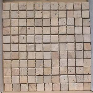 CM524  Mosaic  Travertine 25×25 tumbled (Pack of 4) 305x305x10