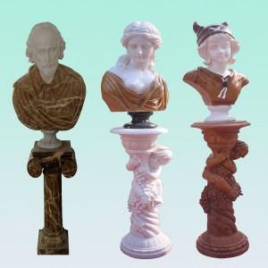 CC014 Marble Bust & Column