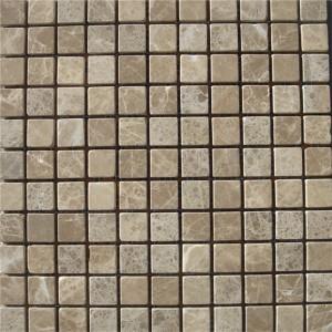CM504 Mosaic  Light Emperador 25×25 Tumbled (Pack Of 4) 305x305x8