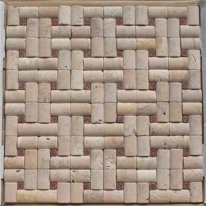 CM506  Boned Mosaic Travertine