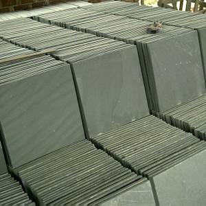 CS018 P018 Black Slate Tile 300×300