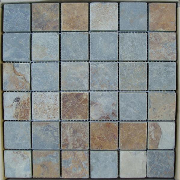 Wholesale Discount Grey Slate Landscape Rock - CM616 Cottage Ashlar Tumbled 49×49 – ConfidenceStone Featured Image