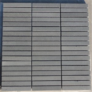 CM514  Mosaic  Ash Basalt Three-Set Sticks (Pack of 4) 305x305x10