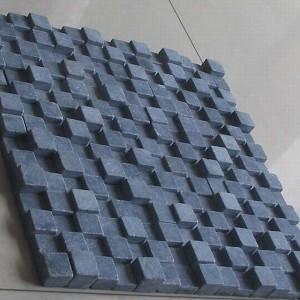 CL008 Blue Limestone Tumble 3d Mosaic