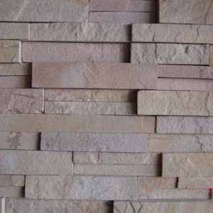 CW740 Grey YelloW Cleft Stacked Stone
